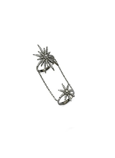 Bendis Design İkili Yıldız Yüzük Gümüş